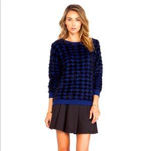 BCBGeneration Textured Houndstooth Sweater